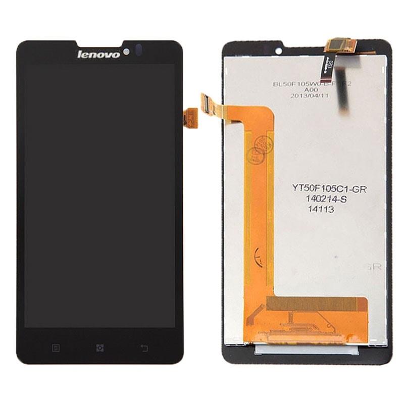 Lenovo P780 LCD displej černý + dotykové sklo komplet