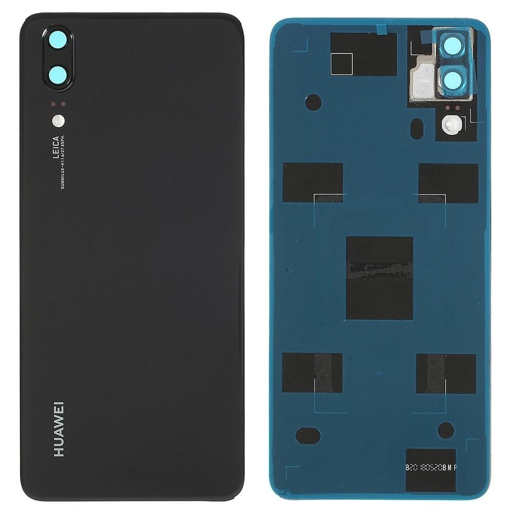 Huawei P20 zadní kryt baterie černý včetně krytky fotoaparátu