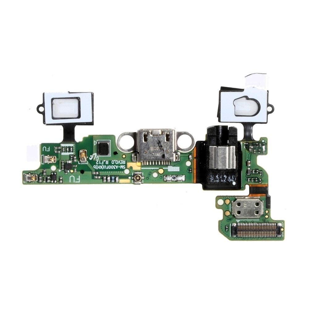 Samsung Galaxy A3 2015 dock SUB konektor micro usb nabíjení systémová tlačítka mikrofon A300F