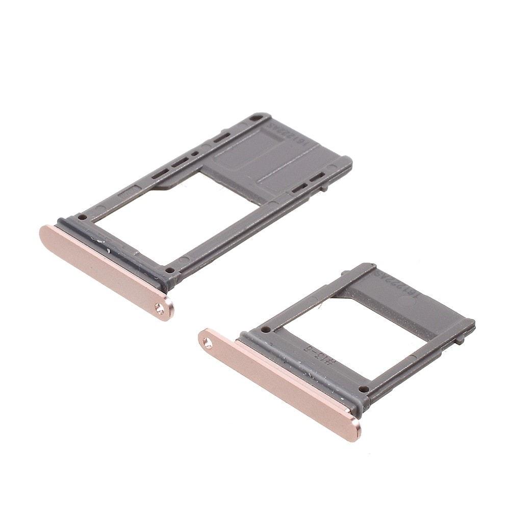 Samsung Galaxy A5 2017 šuplík na SIM a SD kartu růžový A520F