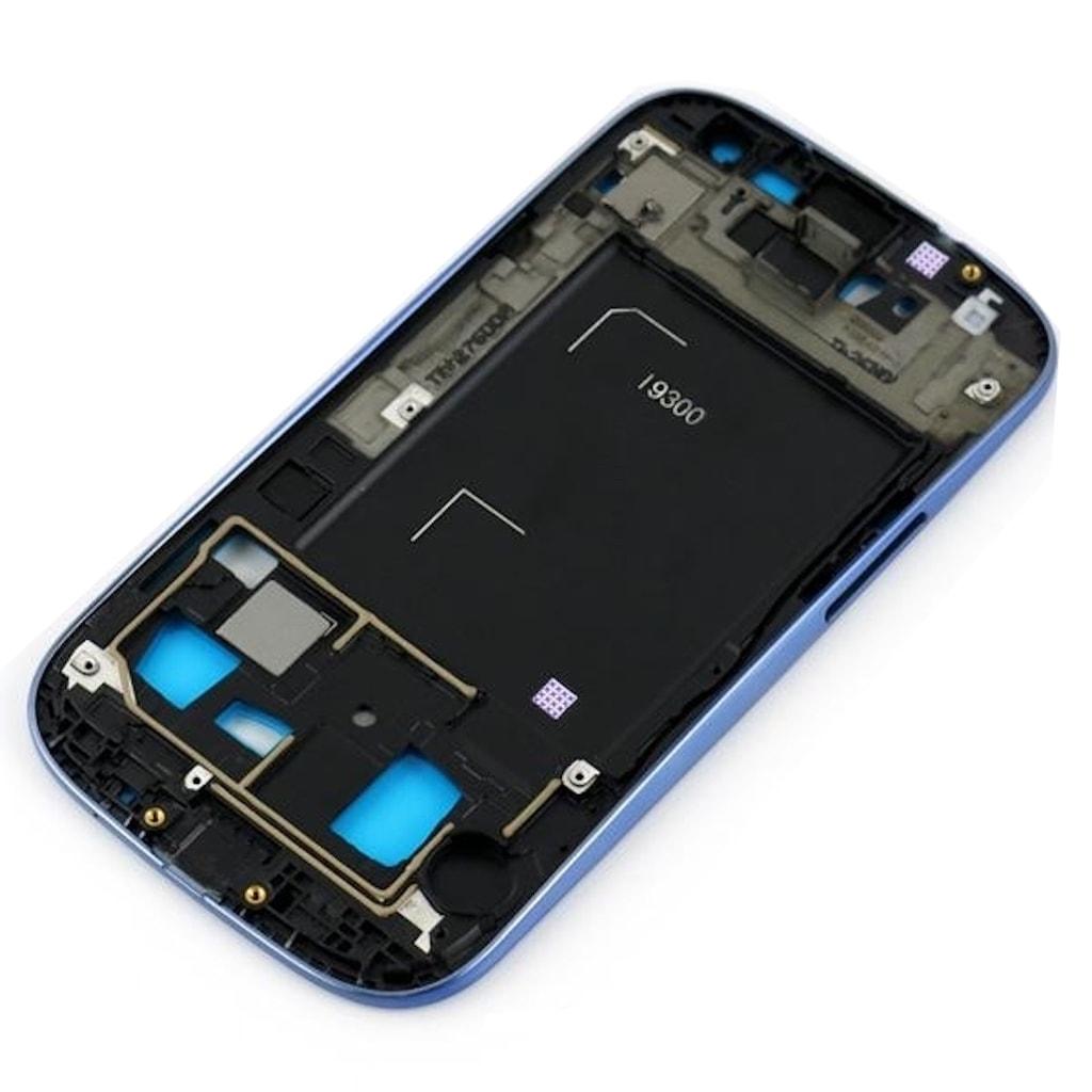 Samsung Galaxy S3 SIII střední rámeček LCD displeje modrý