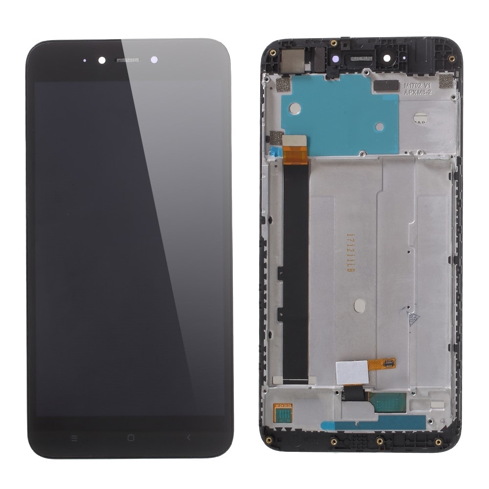 Xiaomi Redmi Note 5A LCD displej dotykové sklo černé včerně rámečku