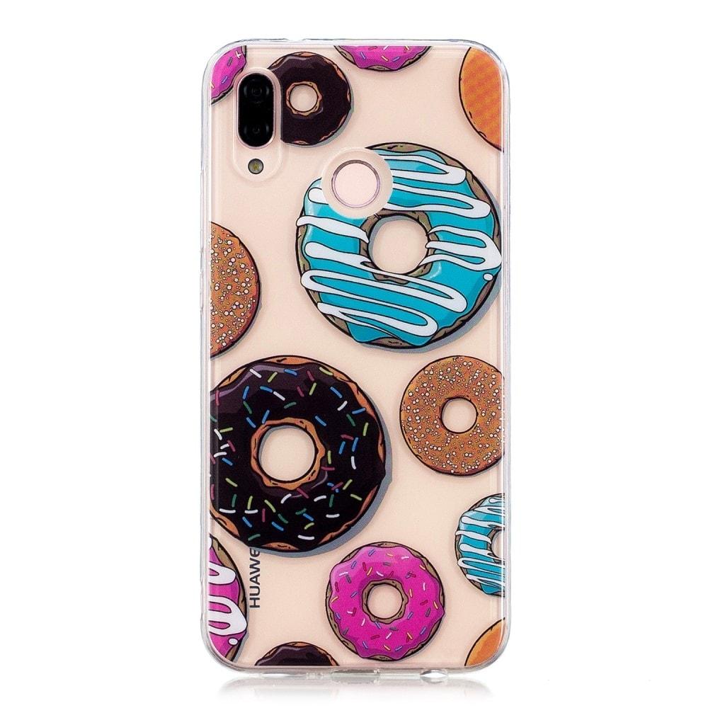 Huawei P20 Lite ochranné pouzdro obal vzor donuty