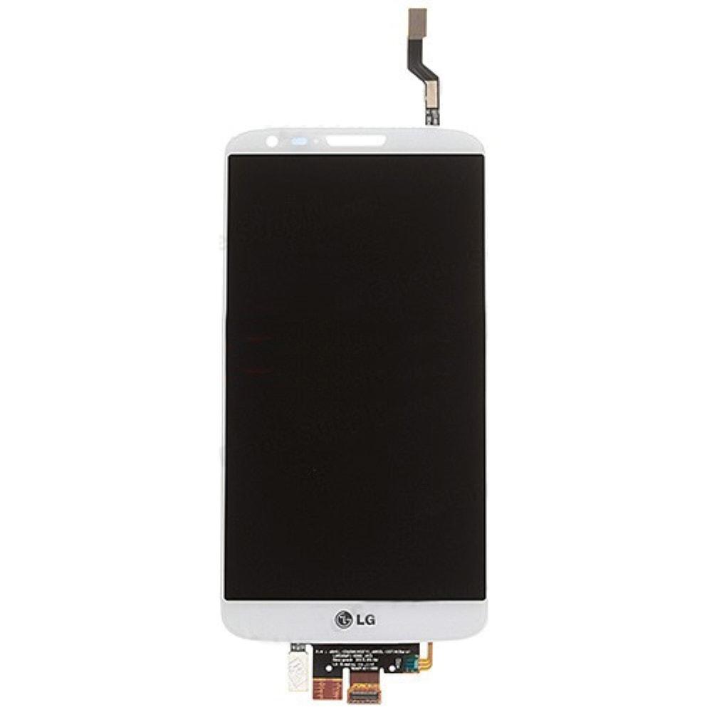 LG G2 LCD displej bílý + dotykové sklo komplet D802 D805