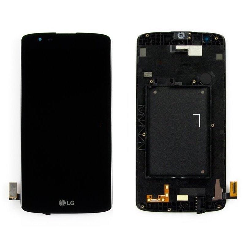 LG K8 LCD displej + dotykové sklo komplet rámeček K350