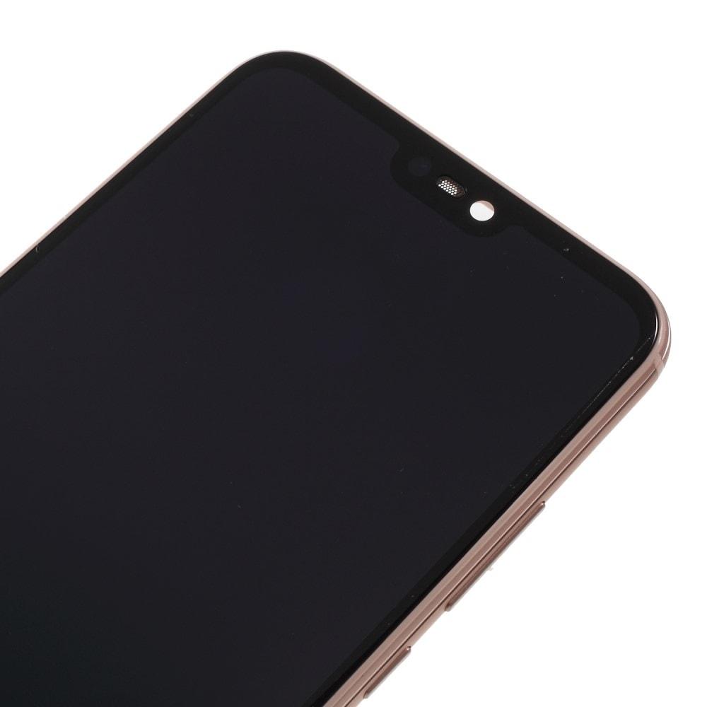Huawei P20 Lite LCD displej dotykové sklo komplet přední panel včetně rámečku růžový