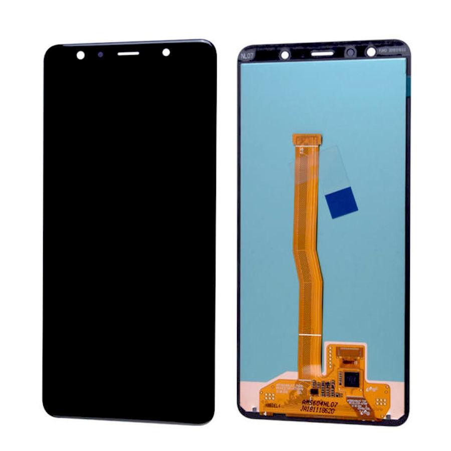 Samsung Galaxy A7 2018 LCD displej dotykové sklo černé A750F