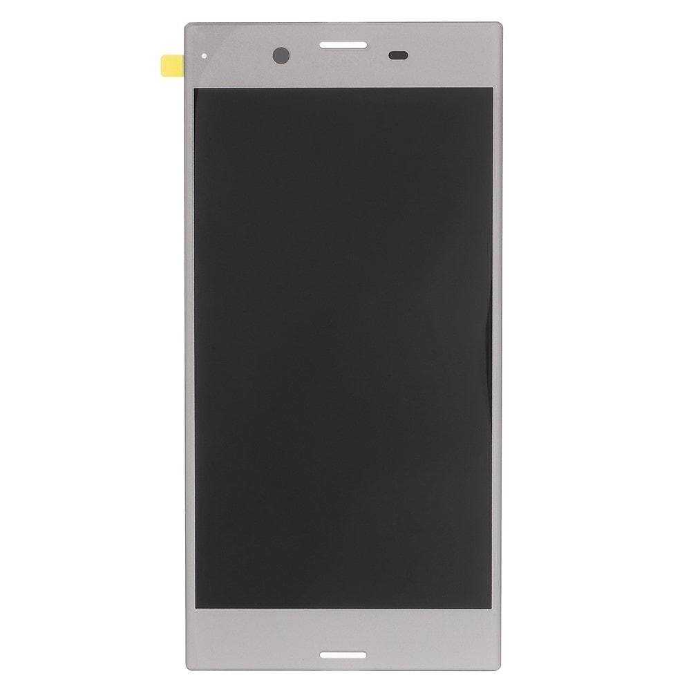 Sony Xperia XZ LCD displej dotykové sklo komplet přední panel bílý stříbrný F8331