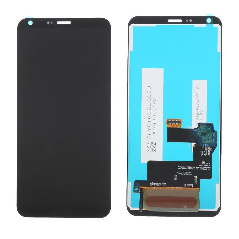 LG Q6 LCD displej komplet dotykové sklo přední panel černý M700N