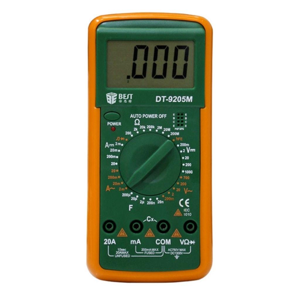 Digitální Ruční Multimetr s velkým displejem BEST BST-9205M