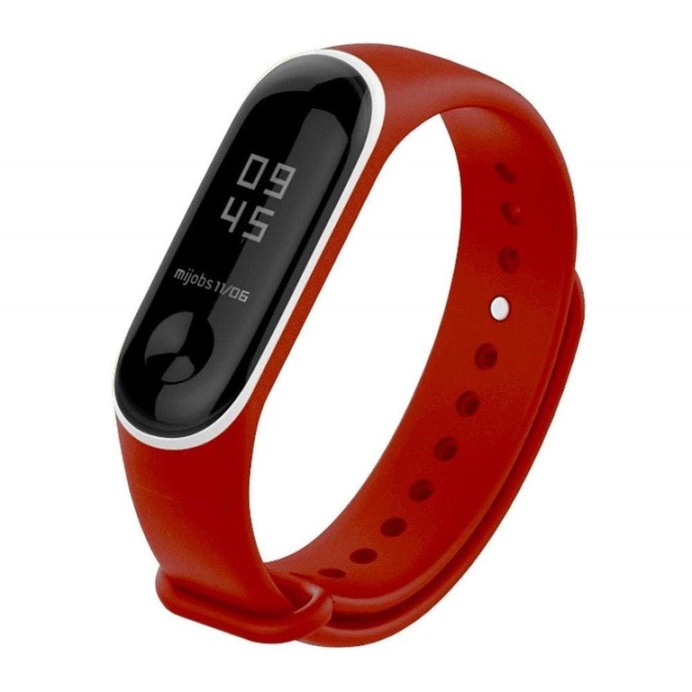 Xiaomi Mi Band 3 pásek na ruku řemínek silikon červenobílý