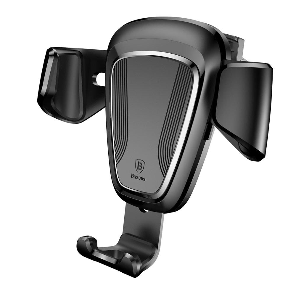Baseus Držák telefonu do auta mezi mřížky ventilátoru černý plastový