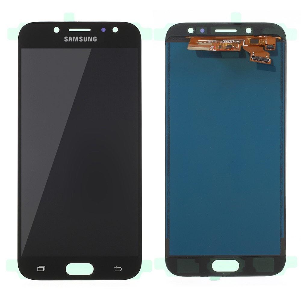 Samsung Galaxy J7 2017 LCD displej TFT dotykové sklo komplet přední panel černý J730