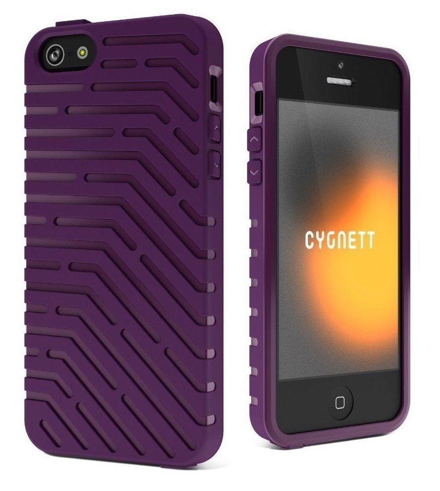 Apple iPhone 5 5S SE Ochranný kryt obal silikonový fialový CYGNETT