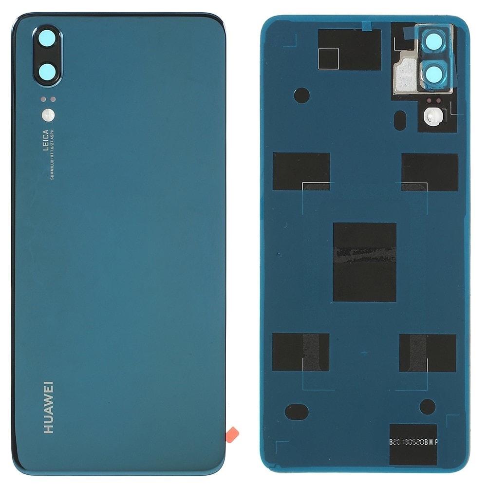 Huawei P20 zadní kryt baterie modrý včetně krytky fotoaparátu