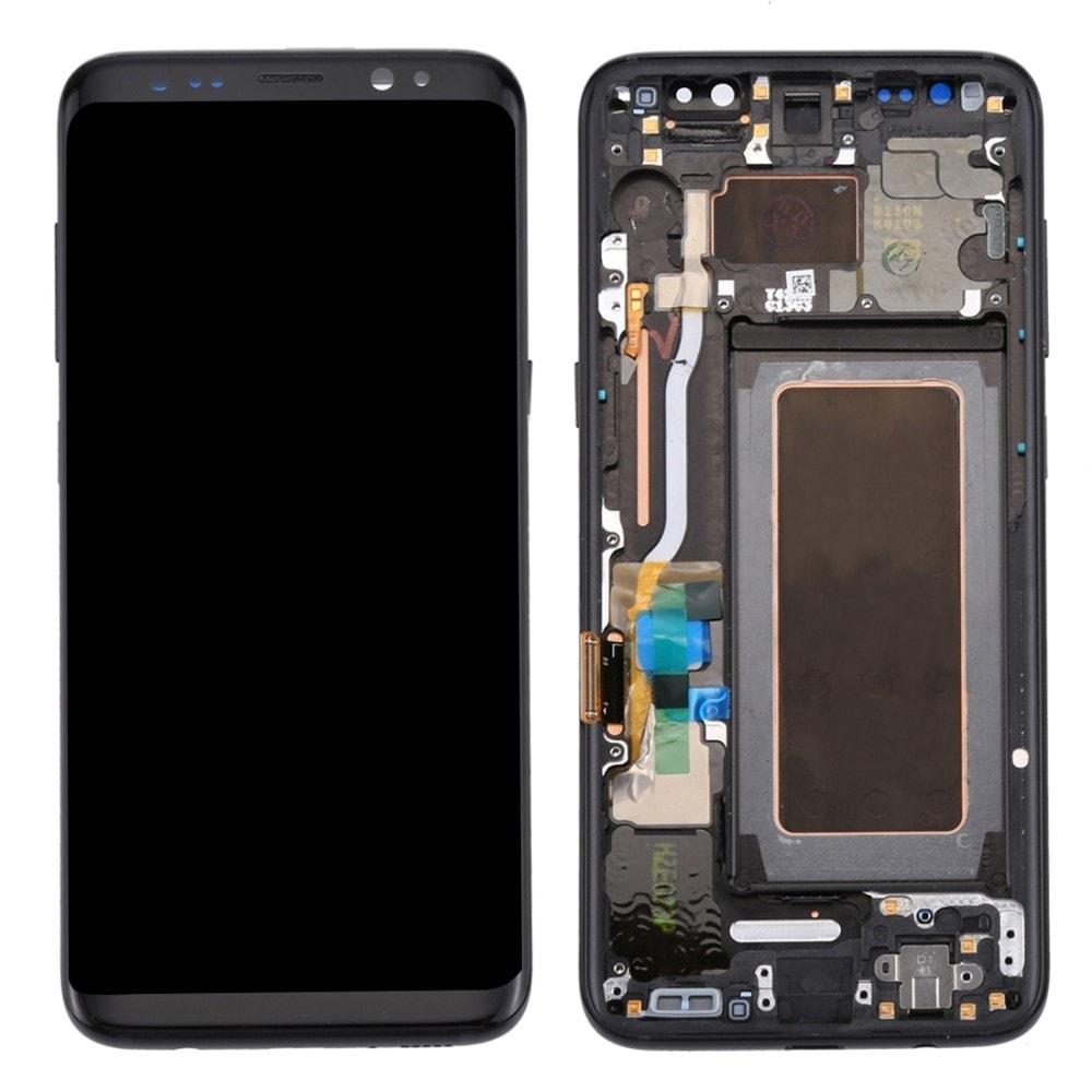 Samsung Galaxy S8 LCD Amoled displej komplet přední panel černý včetně rámečku black G950