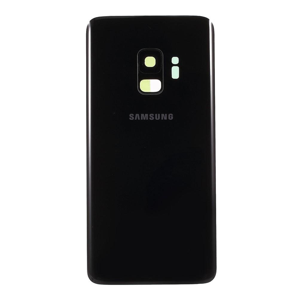 Samsung Galaxy S9 zadní kryt baterie osazený včetně krytky čočky fotoaparátu černý G960