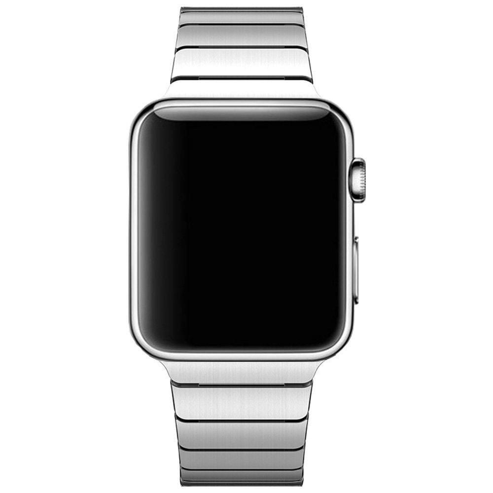 Řemínek kovový článkový tah stříbrný pro Apple Watch 42mm 44MM
