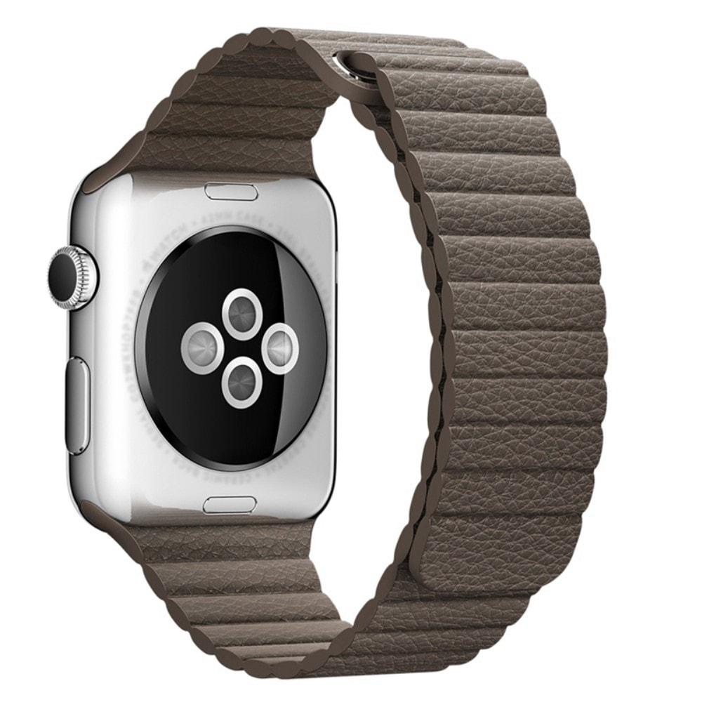 Apple Watch 42mm 44MM řemínek kožený provlékací světle hnědý