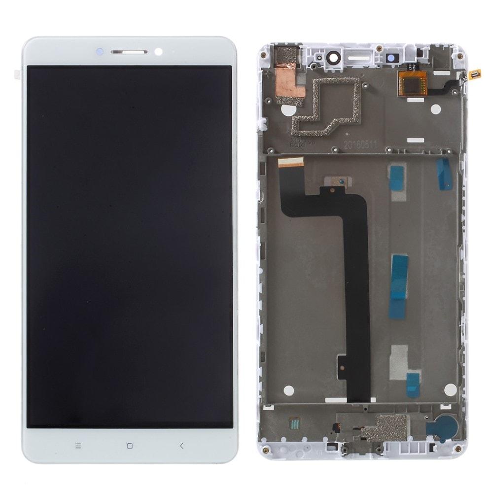 Xiaomi Mi Max LCD displej dotykové sklo bílé + střední kryt rámeček