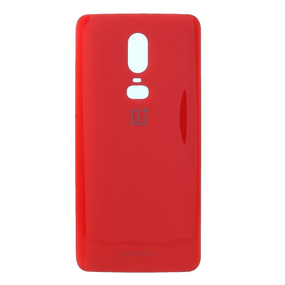 Oneplus 6 zadní kryt baterie skleněný červený