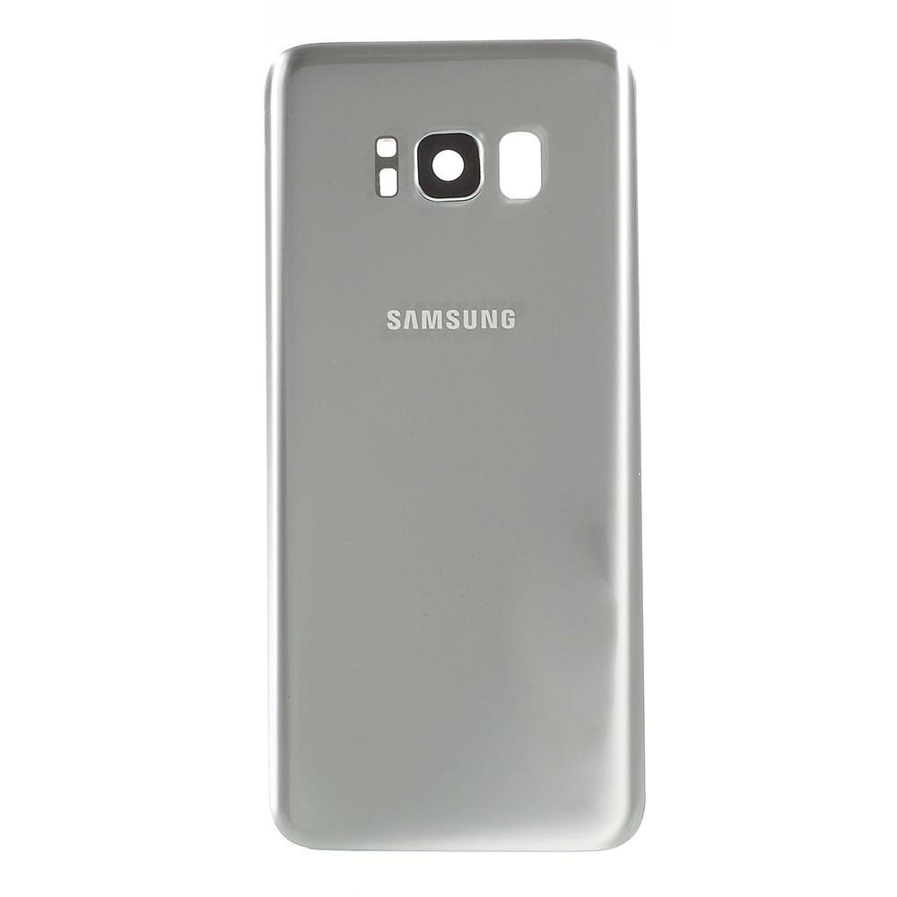 Samsung Galaxy S8 zadní kryt baterie osazený včetně krytky čočky fotoaparátu stříbrný G950F