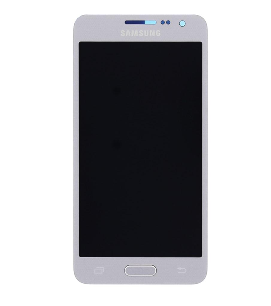 Samsung Galaxy A3 2015 LCD displej dotykové sklo stříbrné A300F