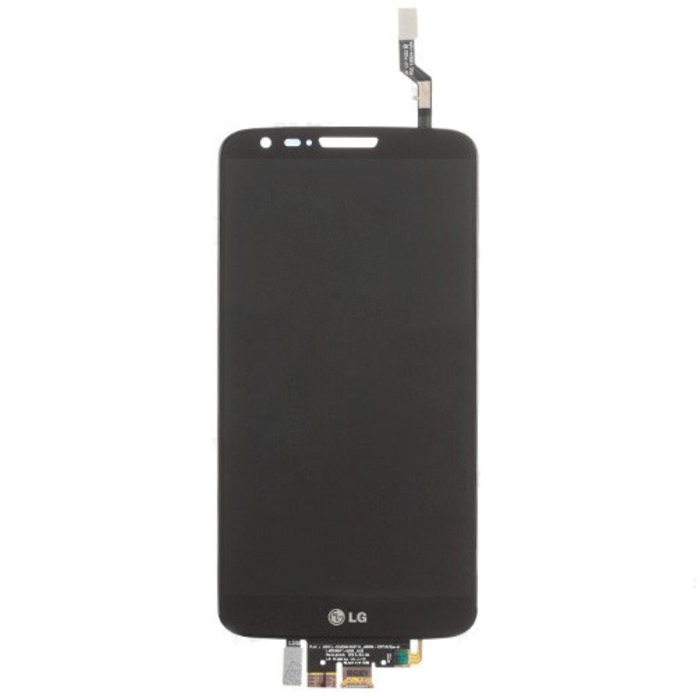 LG G2 LCD displej černý + dotykové sklo komplet D802 D805