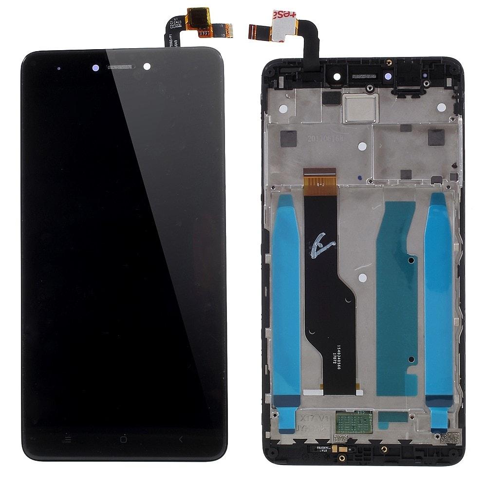 Xiaomi Redmi Note 4 Global / Note 4X LCD displej černý včetně středního krytu rámečku