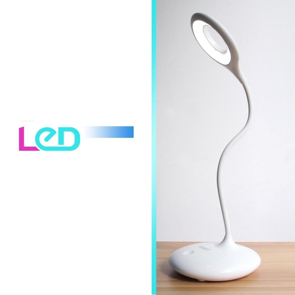 Stolní LED lampa 360° s průhledem s interní baterií