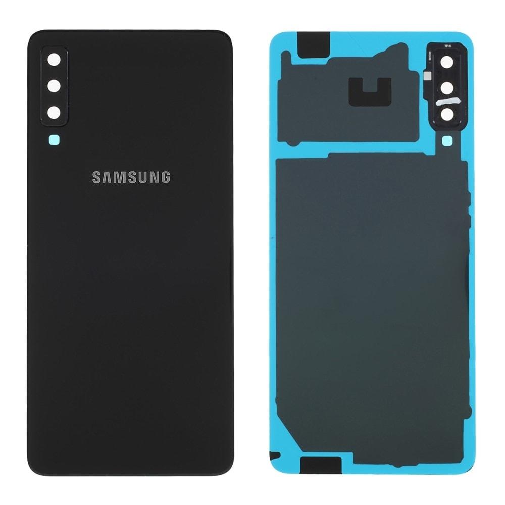 Samsung Galaxy A7 2018 zadní kryt baterie černý osázený včetně krytky fotoaparátu A750