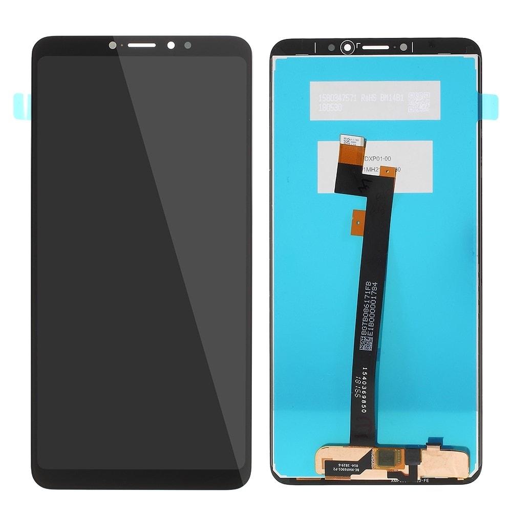 Xiaomi mi MAX 3 LCD displej dotykové sklo komplet přední panel černý
