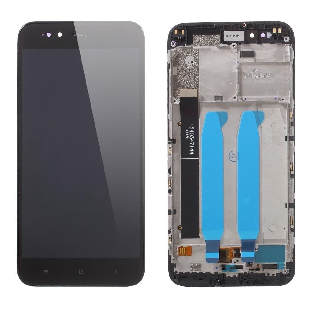 Xiaomi Mi A1 LCD displej dotykové sklo komplet včetně rámečku černý