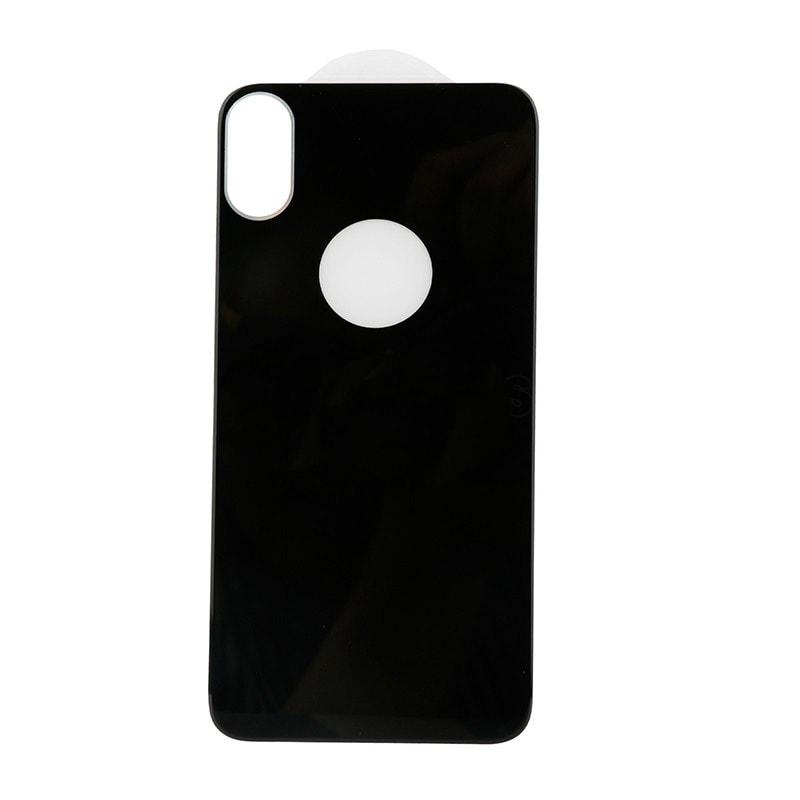 Apple iPhone X černé ochranné tvrzené sklo zadního krytu baterie 5D