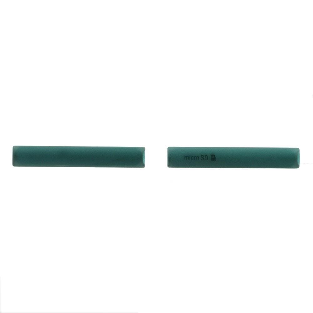 Sony Xperia Z3 compact sada krytky micro USB a SIM D5803 zelené