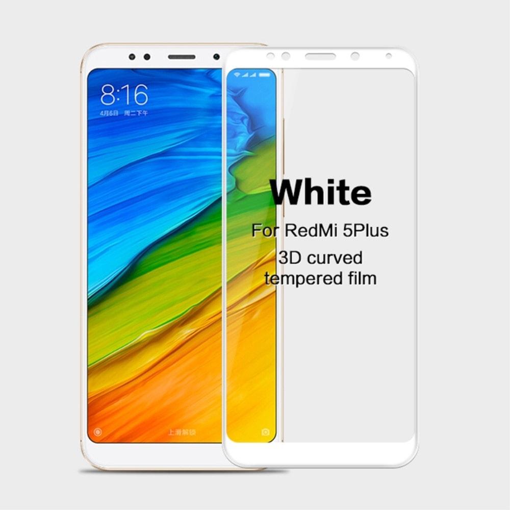 Xiaomi Redmi 5 Plus 3D Ochranné tvrzené sklo na displej bílý MOFI