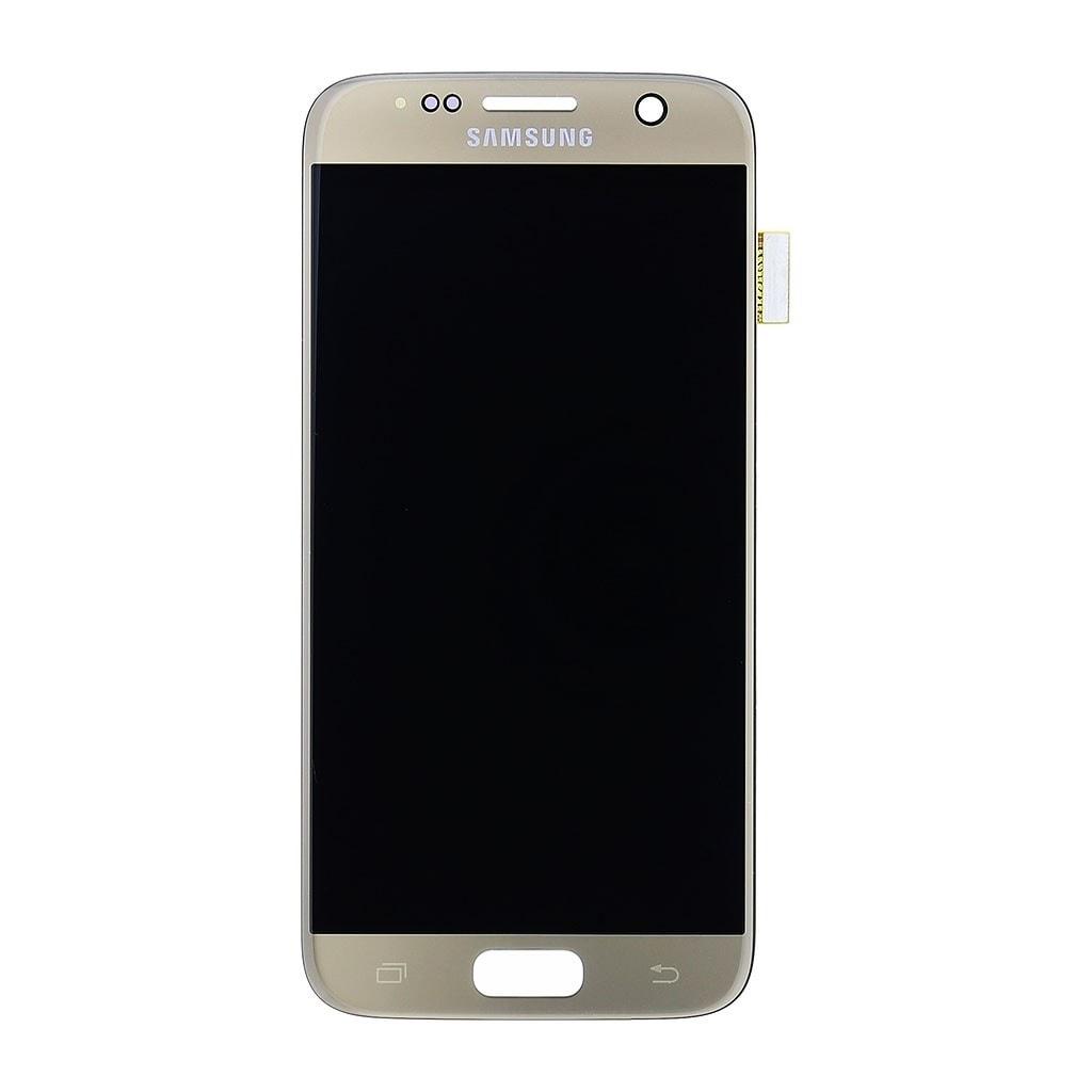 Samsung Galaxy S7 LCD displej dotykové sklo zlatý G930 AMOLED